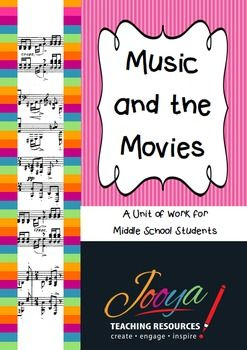 Music and the Movies This resource is designed for Music students in the Middle School. The unit includes lessons on History of Film Music through to How Music is used in Films.Each lesson includes reading strategies from the Super Six Making Connections, Predicting, Questioning, Monitoring, Visualizing and Summarizing.