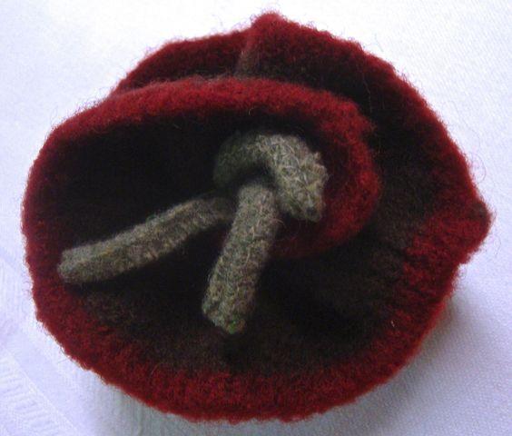 repurposed wool flower