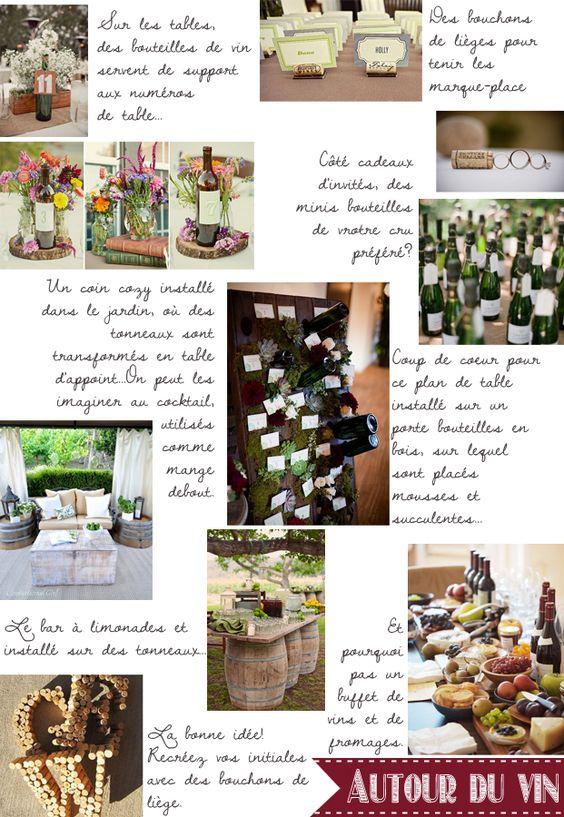 Carnet d inspiration mariage autour du vin tables - Idee cadeau autour du vin ...