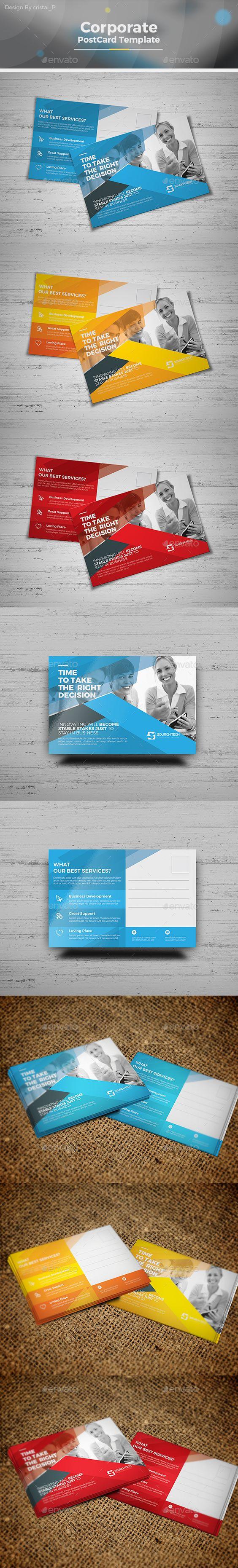 Postcard Template | Illustrators, Ai illustrator and Postcard template