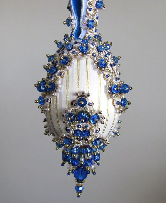 Outstanding Beaded Christmas Ornament Kit Camelot By Glimmertree On Etsy Easy Diy Christmas Decorations Tissureus
