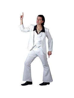 Adult 70s #disco suit saturday night fever #travolta fancy #dress costume bn,  View more on the LINK: http://www.zeppy.io/product/gb/2/201125037801/