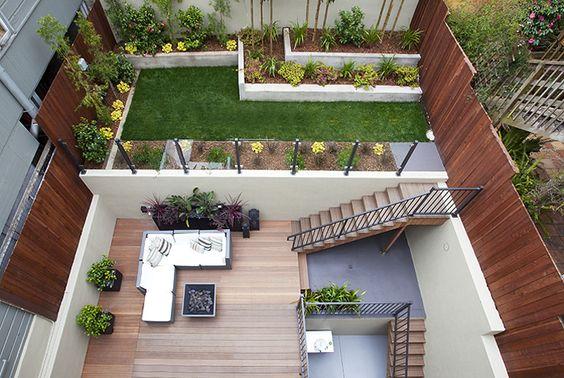 Overlooking Terraced Garden from the Master Suite Terrace garden