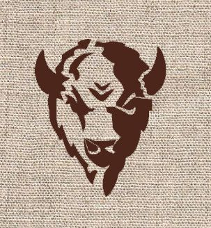 Buffalo Head Stencil. Think it would make a cute tattoo.