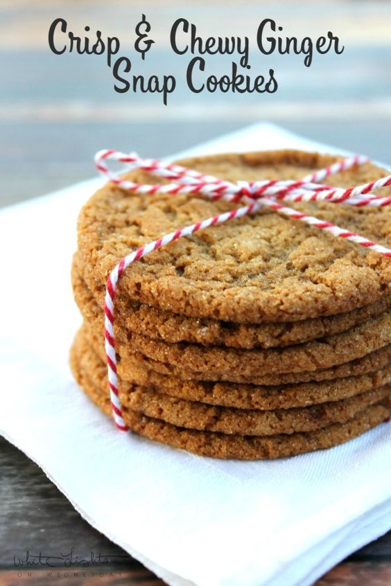 Crisp & Chewy Ginger Snap Cookies _ They were even better than how I normally like gingersnaps. They were crispy & chewy at the same time, & the extra sugar really balanced the molasses well. I'll be making these again, but for now you're getting my recipe. Because they're gooooo-oooood!