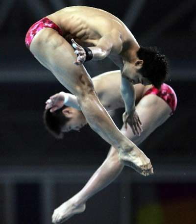 Tian Liang and Yang Jinghui - Diving - Athens Olympics 2004 - Mens 10m Synchro