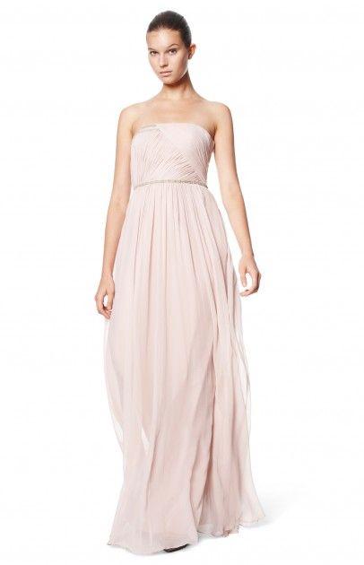 Vestido gasa plisado - nuevo | Adolfo Dominguez shop online