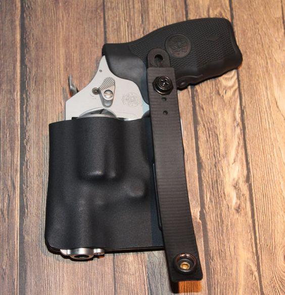 Kydex Holster, S&W J Frame Revolver, IWB Ambidextrous on Etsy, $35.00