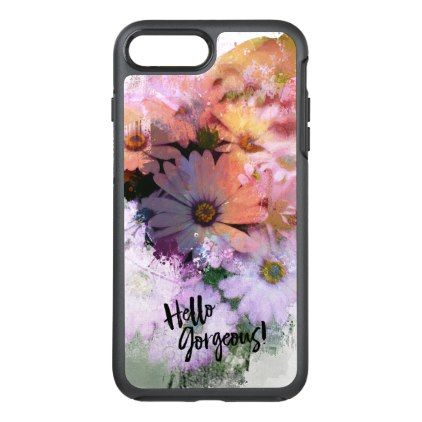 #flower - #Hello Gorgeous Abstract Daisies OtterBox Symmetry iPhone 7 Plus Case