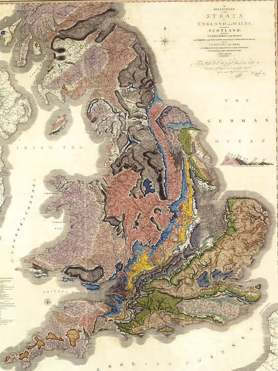 In 1815, the former coal miner and self-taught surveyor William Smith made the first geologic map. It was the beginning of using maps as scientific, as opposed to descriptive or navigational, tools.