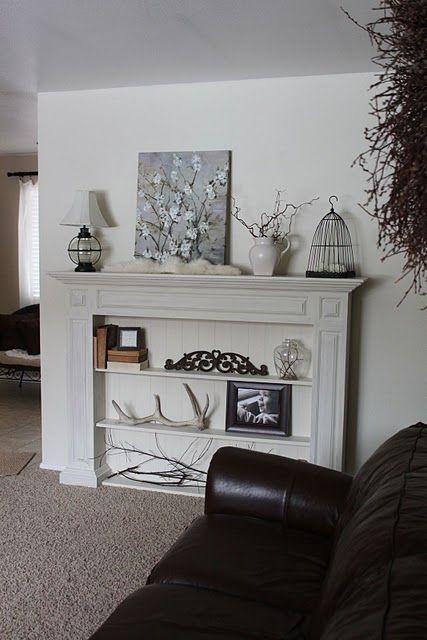 Faux Fireplace Mantels, Mantel Shelf Ideas Without Fireplace