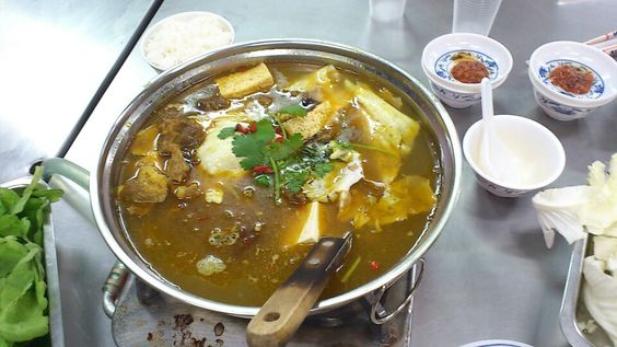 Taiwanese spicy hotpot! Beef stew . tufu .vege.  Good for cold day !  Yammy                                        Shu Hui Huang