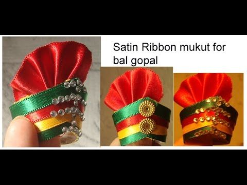 Heavy work Designer Pagdi/Pag/Cap/Turban for Ladoo Gopal