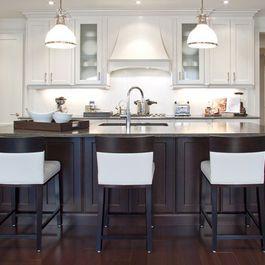 Black Bottom Cabinets White Top Cabinets Kitchen