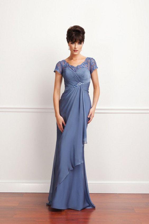 Buy Perfect Mother Of The Bride Dress Scoop Column Beaded Short ...