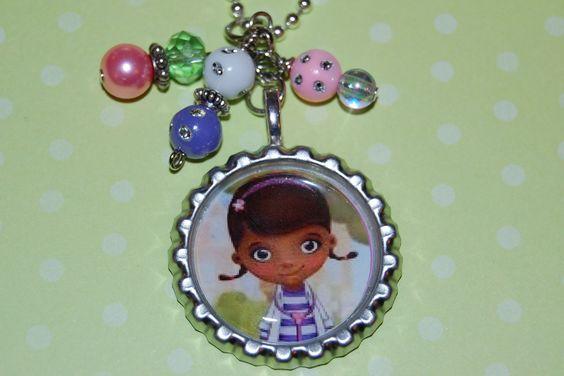 Disney Jr Doc McStuffins Bottlecap Necklace by SweetbeanzBoutique, $7.95