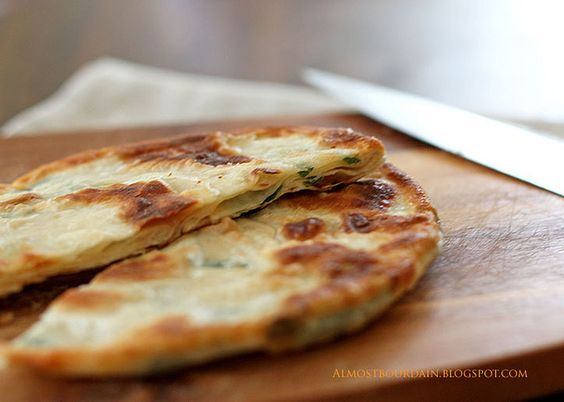 Chinese scallion pancake | Food | Pinterest | Scallion Pancakes ...