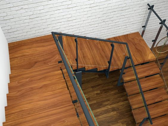 The dramatic effect of stairs and staircases a flight for Quarter landing staircase