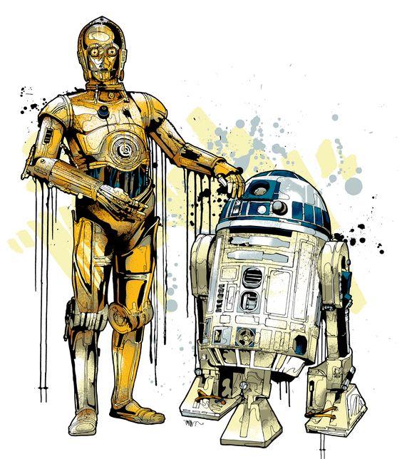 R2d2 And C3po Drawing C3PO R2D2 | I am one w...