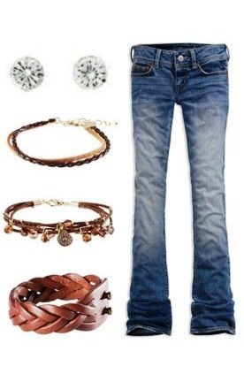I'm definitely a jeans girls and love funky bracelets!!