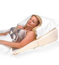 Contour Folding Wedge Pillow With Velour Cover