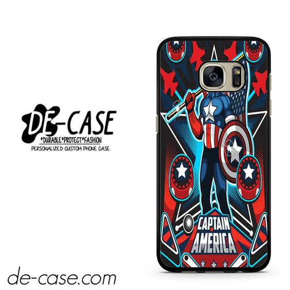 Marvel Pinball Captain America DEAL-6956 Samsung Phonecase Cover For Samsung Galaxy S7 / S7 Edge