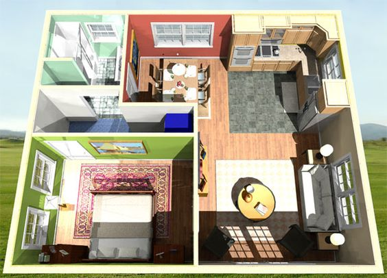 Mother in law house plans mother in law suites and - 1 bedroom basement apartment floor plans ...