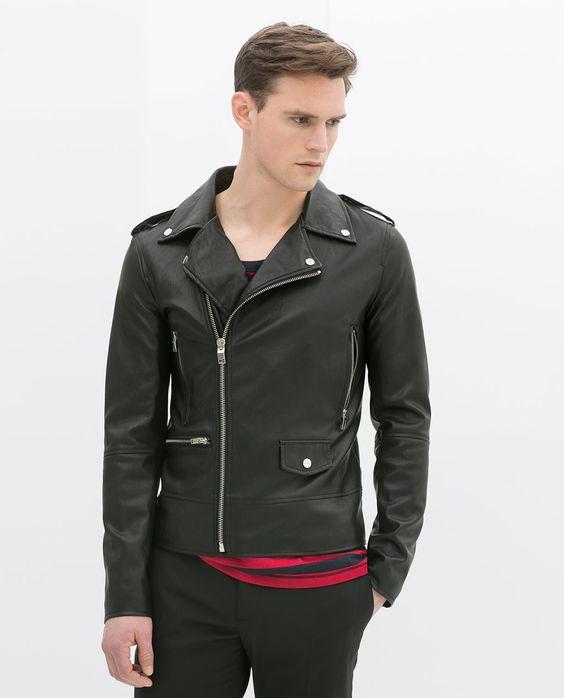 Image 2 of FAUX LEATHER BIKER JACKET from Zara | Men ...