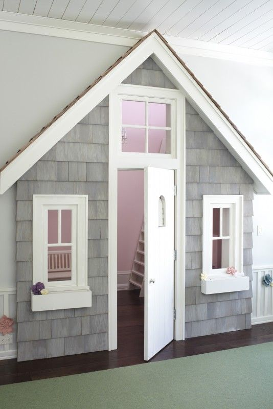 Closet as playhouse. CUTE!