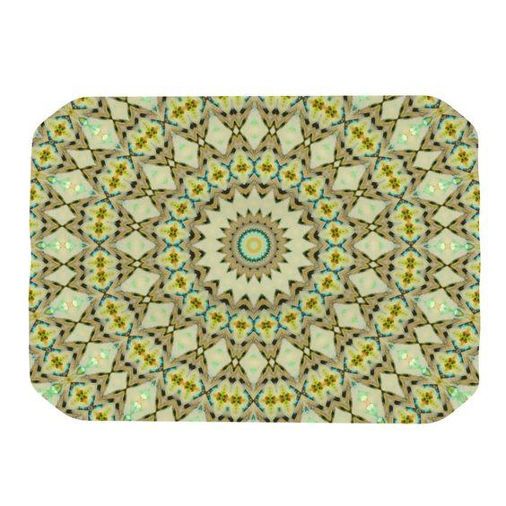 "Iris Lehnhardt ""Kaleidoscope Green"" Geometric Place Mat"