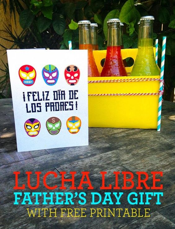 DIY Father's Day La Lucha Libre Gift with free printable