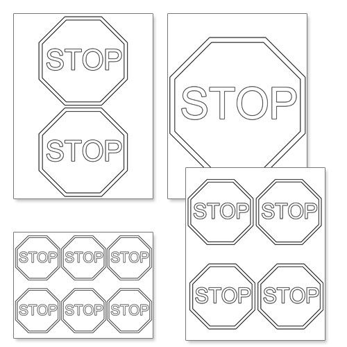 Printable stop sign template from printabletreatscom for Stop sign templates