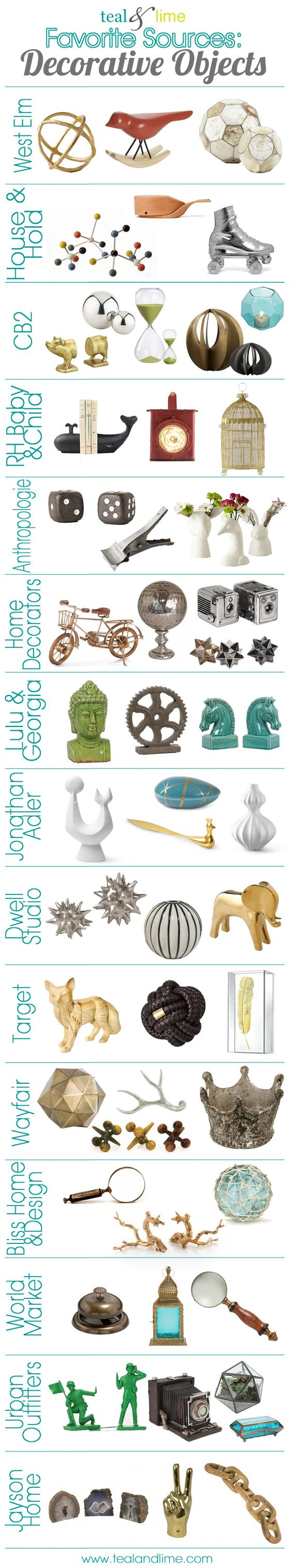 Favorite Sources: Decorative Objects