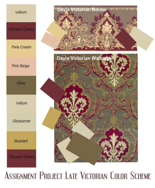 Victorian Colors victorian colors interior | assignment late victorian color scheme