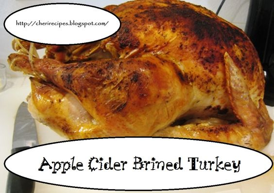 Apple Cider-Brined Turkey with Savory Herb Gravy-How to Brine a Turkey ...