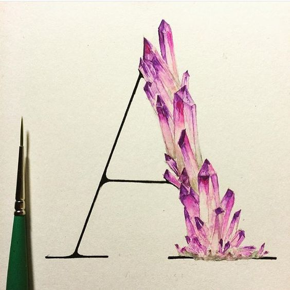 """""""A"""" by @nim_br for an alphabet of minerals  #Goodtype #StrengthInLetters by…"""