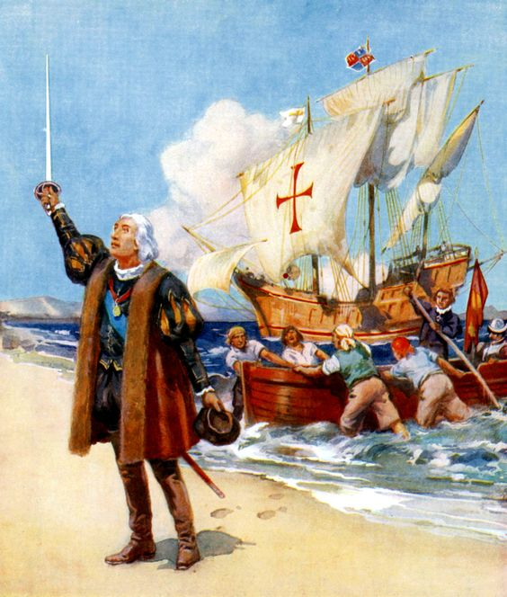 Christopher Columbus landing in the New World