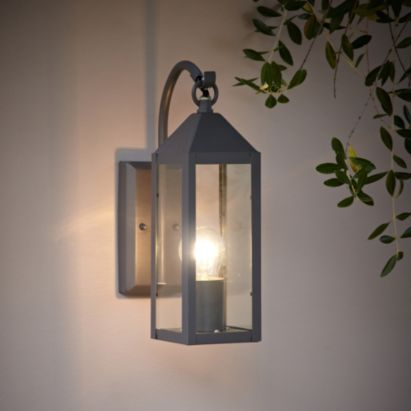 Charcoal Grey Wall Lights : Blooma Capella Charcoal Grey External PIR Lantern It is, Grey and Charcoal