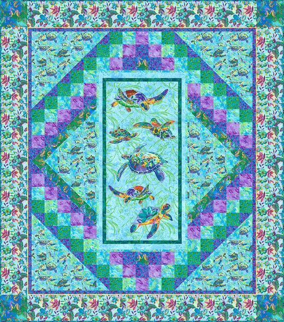 Free eQuilter Pattern - Calypso Turtles - Free Shipping