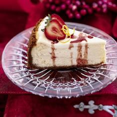 Lemon Cheesecake with Strawberries and Port Glaze | Recipe | Lemon ...