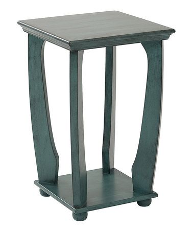 Another great find on #zulily! Caribbean Blue Mila Wood Square Side Table #zulilyfinds