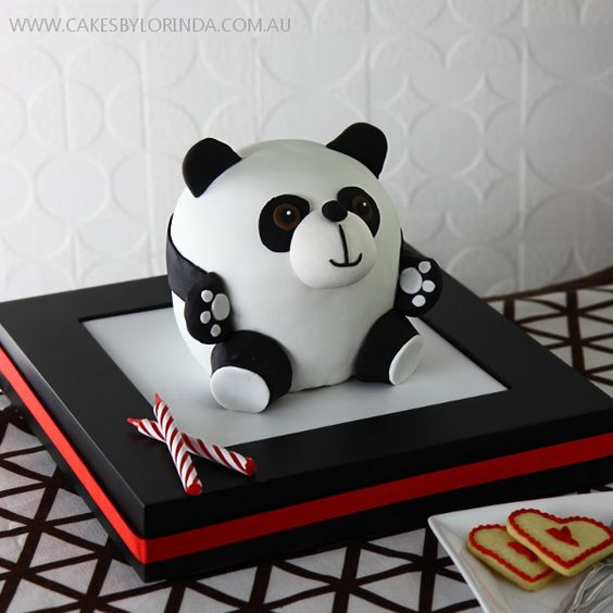 adorable panda cake
