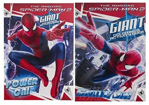 Buy Marvel 2 Pack The Amazing Spiderman 2 Giant Coloring Activity Book Set Power On Swing On Online At Low Prices In Usa Ergode Com In 2021 The Amazing