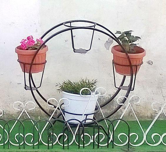 Originale portavasi da interno esterno in ferro prodotti di bellezza - Portavasi da esterno ...