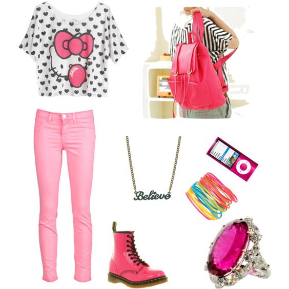 life is better in pink, created by yaksijz on Polyvore