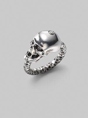Alexander McQueen Skull Ring - LOVE