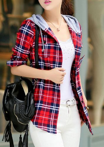 Plaid Hooded Skirt Sweatshirt. Find your's here: https://ecolo-luca.com/collections/clothing/products/plaid-hooded-skirt-sweatshirt