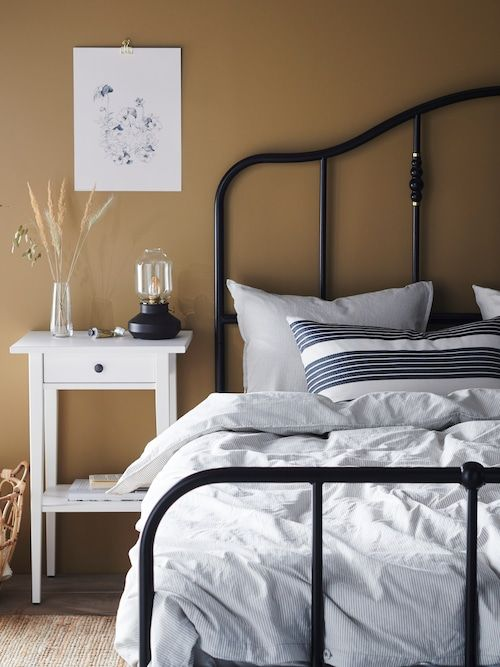 Iron Bed Frame Black Metal, Ikea White Queen Metal Bed Frame