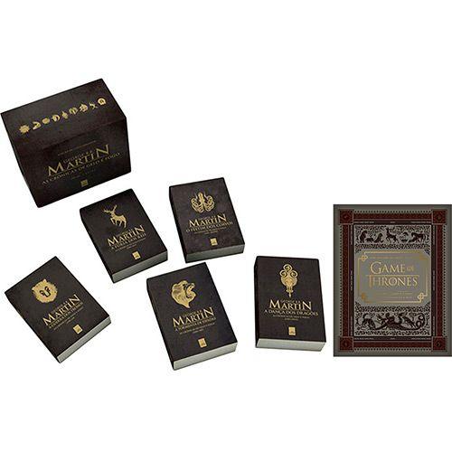 Kit Livros -  Box: As Crônicas Gelo e Fogo + Guia HBO Game of Thrones