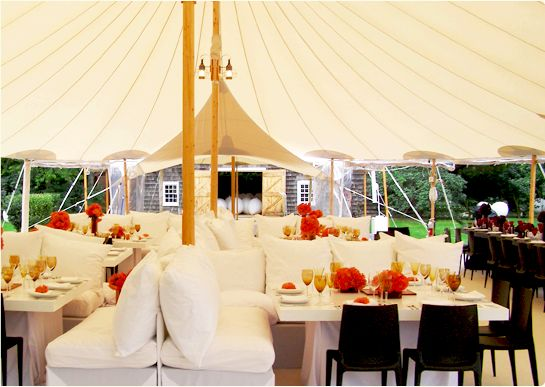 Maine Barn Wedding   wow!  different thinking for under a canopy!